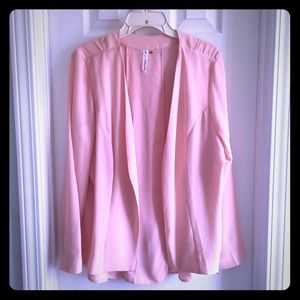 NY Collection Pink Blush Blazer